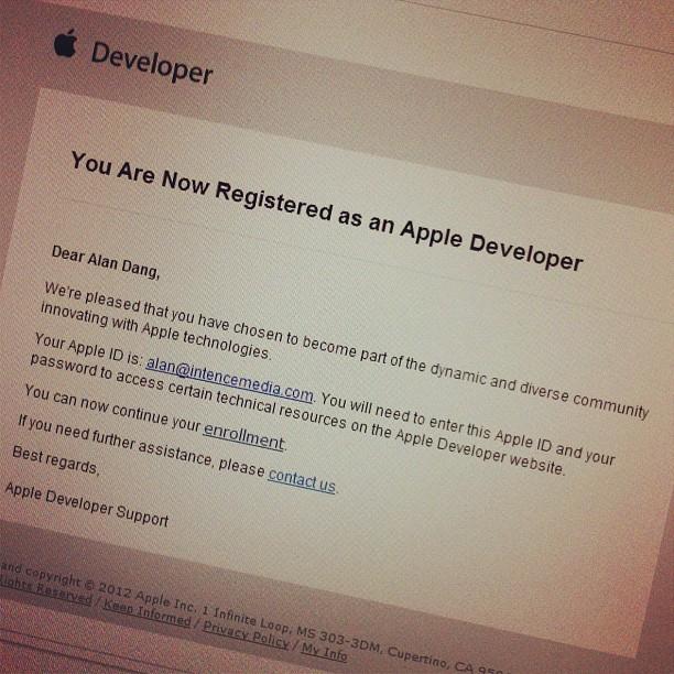 So it begins... #app #developer