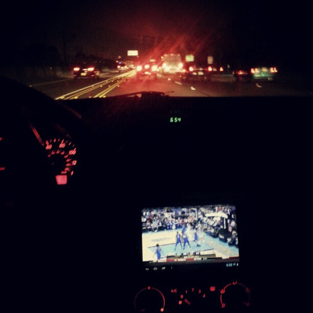 Live NBA makes commute in traffic go by faster #notsafeatall