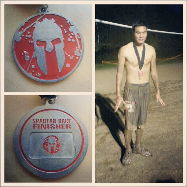3 miles and 20 obstacles later I've completed my first #spartanrace