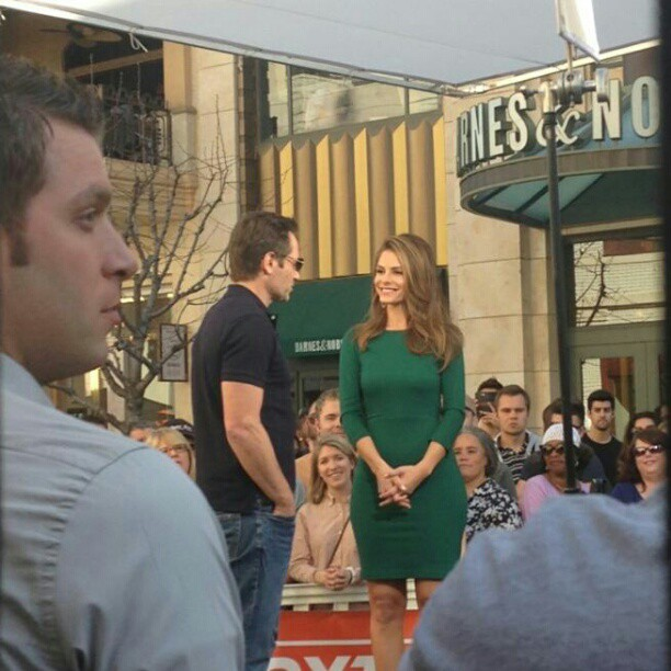 Maria menounos and david duchovny!