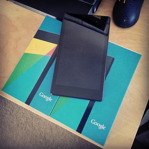Hello new #nexus7 tablets. One for play and one for development!