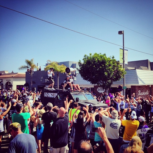 LA Kings parade. Stanley cup champs!